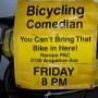 Bicycling Comedian's banner